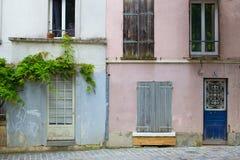 Δημοφιλής γειτονιά του Παρισιού, Γαλλία Στοκ Φωτογραφίες