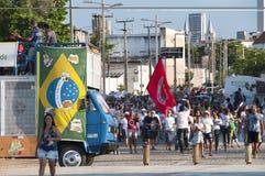 Δημοφιλής διαμαρτυρία την ημέρα της ανεξαρτησίας της Βραζιλίας στοκ φωτογραφία
