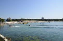 Δημοφιλής παραλία στη Μαύρη Θάλασσα Στοκ Εικόνα