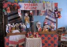 Δημοφιλείς κούκλες κουρελιών Velskie χειροποίητες Στοκ Εικόνες