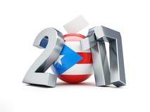 Δημοψήφισμα στη θέση του Πουέρτο Ρίκο 2017 σε μια άσπρη τρισδιάστατη απεικόνιση υποβάθρου Στοκ Εικόνες