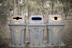 Δημόσια απορρίμματα στο πάρκο της Ταϊλάνδης Στοκ φωτογραφία με δικαίωμα ελεύθερης χρήσης