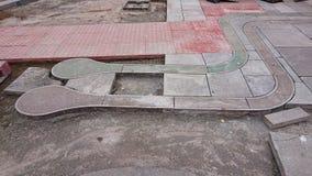 Δημόσια διάβαση με την αφής επίστρωση στοκ εικόνα με δικαίωμα ελεύθερης χρήσης