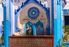 Δημόσια πηγή του Plaza EL Hauta, τετράγωνο στο medina Chefchaouen Μαρόκο Στοκ Εικόνα