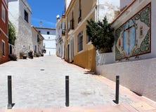 Δημόσια πηγή Plaza Δ. Manuel Miro. Calpe, Ισπανία. στοκ φωτογραφία