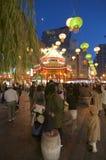 Δημόσια πλατεία και παγόδα Chinatown του Kobe τη νύχτα στοκ φωτογραφίες