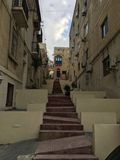 Δημόσια σκαλοπάτια οδών αρχιτεκτονικής συνήθειας Msida στοκ εικόνες με δικαίωμα ελεύθερης χρήσης