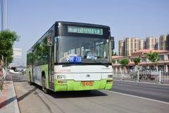 Δημόσια στάση λεωφορείου στο Πεκίνο, Κίνα Στοκ Φωτογραφία