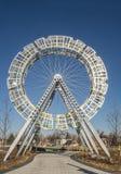 Δημόσια τέχνη ροδών Ferris στοκ εικόνα