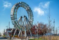 Δημόσια τέχνη Bigwheel Στοκ Εικόνες