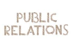 Δημόσιες σχέσεις που γράφονται με τους μικρούς κύβους Στοκ φωτογραφίες με δικαίωμα ελεύθερης χρήσης