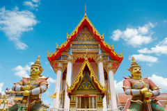 Δημόσιος ναός Samakhitham Wat στη Μπανγκόκ Ταϊλάνδη στοκ φωτογραφίες