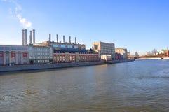 Δημόσιος σταθμός παραγωγής ηλεκτρικού ρεύματος αριθμός 1 Μόσχα Ρωσία Στοκ εικόνες με δικαίωμα ελεύθερης χρήσης