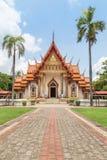 Δημόσιος ταϊλανδικός βουδιστικός ναός Sri Ubon Rattanaram Wat σε Ubonratchathani Ταϊλάνδη Στοκ εικόνα με δικαίωμα ελεύθερης χρήσης