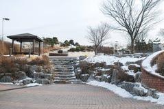 Δημόσιο λούνα παρκ στην Κορέα κατά τη διάρκεια της χειμερινής εποχής Στοκ φωτογραφία με δικαίωμα ελεύθερης χρήσης