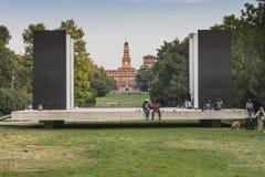 δημόσιο πάρκο στο Μιλάνο Στοκ Εικόνες