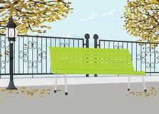 Δημόσιο πάρκο το φθινόπωρο φθινοπώρου Στοκ φωτογραφία με δικαίωμα ελεύθερης χρήσης