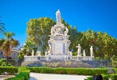 Δημόσιο πάρκο Bonanno βιλών σε Palazzo Reale, Παλέρμο, Ιταλία στοκ εικόνες με δικαίωμα ελεύθερης χρήσης