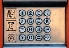 δημόσιο τηλέφωνο πληκτρολογίων Στοκ εικόνα με δικαίωμα ελεύθερης χρήσης