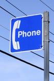 δημόσιο τηλέφωνο σημαδιών Στοκ εικόνα με δικαίωμα ελεύθερης χρήσης