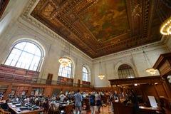 Δημόσιο δωμάτιο καταλόγων του Μπιλ Blass, δημόσια βιβλιοθήκη της Νέας Υόρκης Στοκ Εικόνα