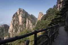 Διάβαση βουνών, Huangshan, Anhui Κίνα Στοκ φωτογραφίες με δικαίωμα ελεύθερης χρήσης