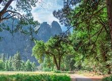 Διάβαση κοιλάδων Yosemite Στοκ φωτογραφίες με δικαίωμα ελεύθερης χρήσης