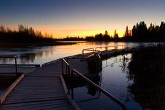 διάβαση πεζών λιμνών astotin Στοκ εικόνα με δικαίωμα ελεύθερης χρήσης