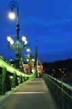 Διάβαση πεζών στη γέφυρα ελευθερίας Στοκ εικόνα με δικαίωμα ελεύθερης χρήσης