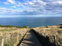 Διάβαση πεζών στη θάλασσα στοκ εικόνες