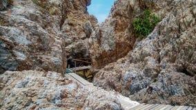 Διάβαση πεζών στη θέση πετρών Στοκ Φωτογραφίες