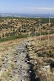 Διάβαση τουριστών στην κορυφογραμμή των βουνών Jeseniky Στοκ Φωτογραφία