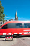 διάβαση του τραίνου Στοκ φωτογραφία με δικαίωμα ελεύθερης χρήσης