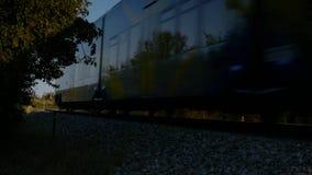 Διάβαση τραίνων απόθεμα βίντεο
