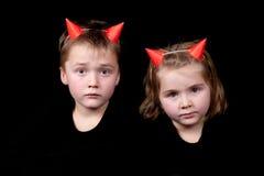 διάβολοι λίγα δύο Στοκ Φωτογραφία