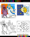 Διάβολος και άγγελος για το χρωματισμό Στοκ εικόνες με δικαίωμα ελεύθερης χρήσης