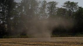 Διάβολος σκόνης ή μικρός ανεμοστρόβιλος απόθεμα βίντεο