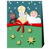 Διάβολος, Άγιος Βασίλης, και άγγελος απεικόνιση αποθεμάτων