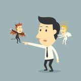 Διάβολος και άγγελος ελεύθερη απεικόνιση δικαιώματος