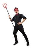 Διάβολος που απομονώνεται αστείος Στοκ εικόνες με δικαίωμα ελεύθερης χρήσης