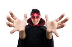 Διάβολος που απομονώνεται αστείος Στοκ Εικόνα