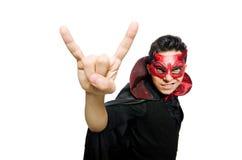 Διάβολος που απομονώνεται αστείος Στοκ φωτογραφία με δικαίωμα ελεύθερης χρήσης