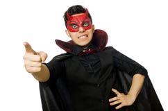 Διάβολος που απομονώνεται αστείος Στοκ Φωτογραφίες