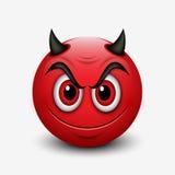 Διάβολος emoticon που απομονώνεται στο άσπρο υπόβαθρο - emoji - απεικόνιση Στοκ φωτογραφία με δικαίωμα ελεύθερης χρήσης