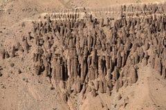 Διάβρωση σε μια έρημο Στοκ εικόνα με δικαίωμα ελεύθερης χρήσης