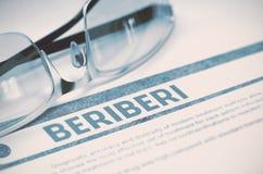 Διάγνωση - Beriberi η έννοια βρίσκεται καθορισμένο στηθοσκόπιο χρημάτων ιατρικής τρισδιάστατη απεικόνιση Στοκ εικόνες με δικαίωμα ελεύθερης χρήσης