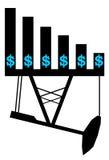 Διάγραμμα αξίας πετρελαίου ελεύθερη απεικόνιση δικαιώματος