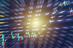 Διάγραμμα γραφικών παραστάσεων ραβδιών κεριών των εμπορικών συναλλαγών επένδυσης χρηματιστηρίου απεικόνιση αποθεμάτων