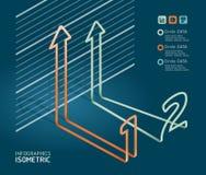 Διάγραμμα διαγραμμάτων βελών Infographic. Στοκ Φωτογραφία