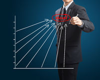 Διάγραμμα επιτυχίας σχεδίων ατόμων στοκ φωτογραφίες